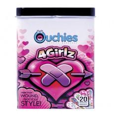 Ouchies Adhesive Bandages, 여자 어린이용 밴드, 20 개