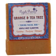 퍼플 프레리 오렌지 & 티트리 비누, 4 oz (113 g)