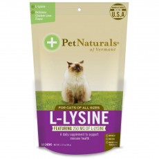 Pet Naturals of Vermont, L-Lysine 포 캣, 닭 간, 60 Chews