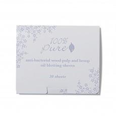 100% Pure, 안티박테리아 오일 블로팅 메이크업 기름종이 50매