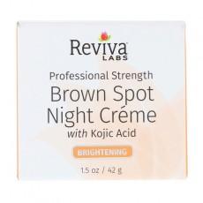 리비바 랩, 브라운 스팟 나이트크림 브라이트닝, 1.5 oz (42 g)
