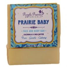 퍼플 프레리, Prairie Baby Bar Soap, 4 oz (민감성./아기용)
