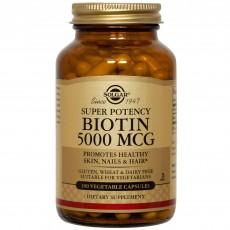 솔가, 비오틴 5000 mcg, 100 Veggie Caps