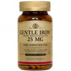 솔가, Gentle Iron (소화 장애없는 철분), 25 mg, 180 Veggie Caps