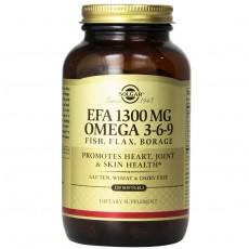 솔가, EFA 1300 mg, 오메가 3-6-9, 120 Softgels