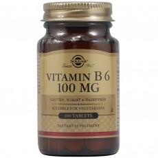 솔가, 비타민 B6, 100 mg, 100 Tablets