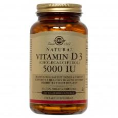 솔가, 내추럴 비타민 D3 (콜레칼시페롤) 5000 IU, 240 Vegetable Capsules