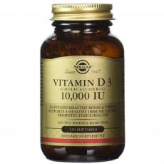 솔가, 천연 비타민 D3, 10,000 IU, 120 Softgels