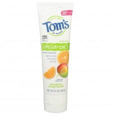 탐스오브메인, 천연 어린이 치약 오렌지망고 (불소함유) 5.1 oz (144 g)