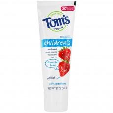 탐스오브메인, 천연 어린이 치약 딸기 (불소 미포함) 5.1 oz (144 g)