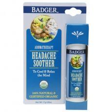 뱃져 BADGER, Headache Soother 스틱 (두통), 페퍼민트 & 라벤더, 0.60 oz (17 g)