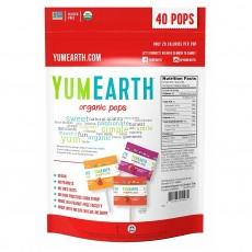 YumEarth, USDA ORGANIC 인증 유기농 막대사탕 (과일맛 모음), 40개+